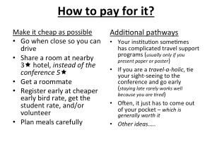 How to pay for a conference